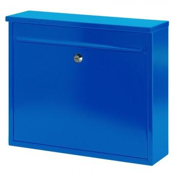 VEPABINS VB440160 Wall Mount Mail Box 36x10x32cm Blue