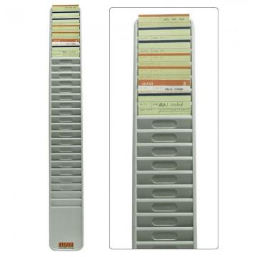ALFAX Plastic Time Card Rack 20's Grey