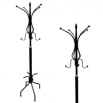 Metal Coat Stand Black 2098