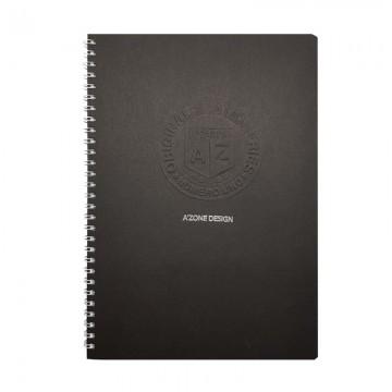 A'ZONE Uno Ringfix Note Book A5 Black