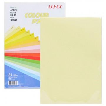 ALFAX C602 Colour Paper 80g A4 100's Cream