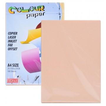 ALFAX C605 Colour Paper 80g A4 100's Peach