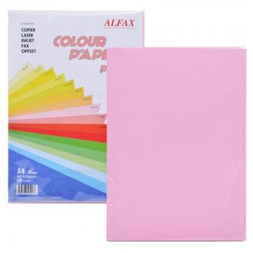 ALFAX C607 Colour Paper 80g A4 100's Pink