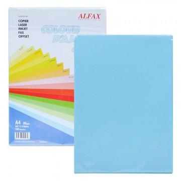 ALFAX C608 Colour Paper 80g A4 100's Ocean