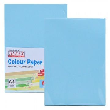 ALFAX C609 Colour Paper 80g A4 100's Blue