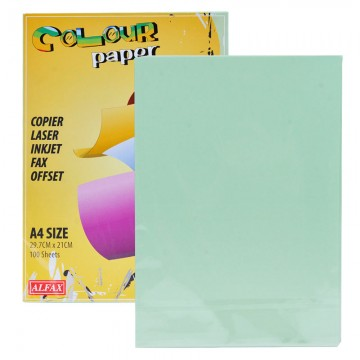 ALFAX C610 Colour Paper 80g A4 100's Lagoon