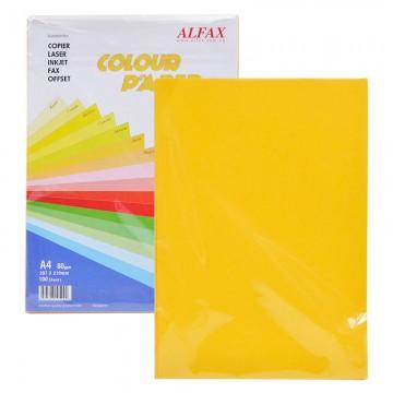 ALFAX C613 Colour Paper 80g A4 100's Gold