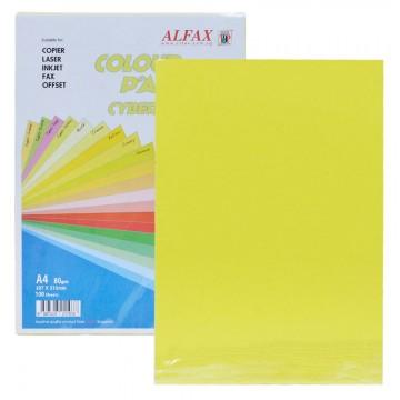 ALFAX C619 Colour Paper 80g A4 100's Cyber Yellow