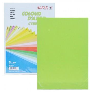 ALFAX C718 Colour Paper 80g A4 100's Cyber Green