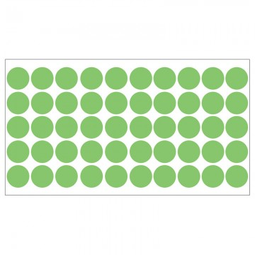 ALFAX Round Label 20mm 1000's Green