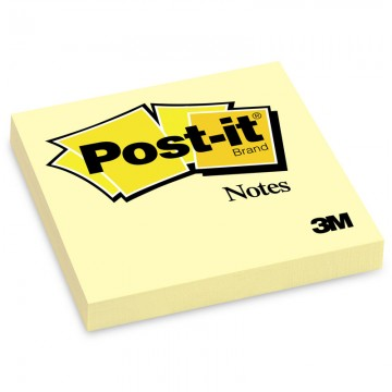 "3M 654YE Post-it Notes 3""x 3"" Yellow"