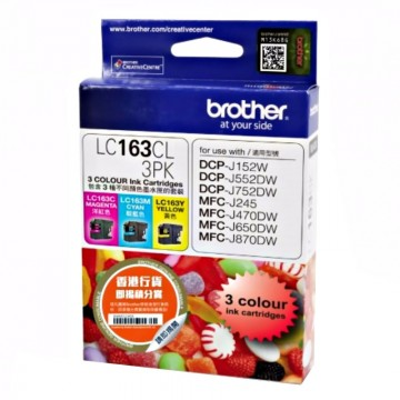 BROTHER Ink Cart LC163CL3P (C/M/Y)
