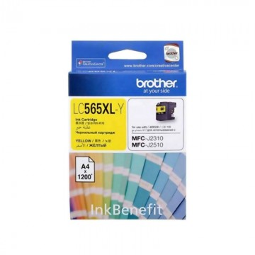 BROTHER Ink Cart LC565XL Yellow -(1200pages)