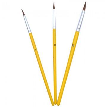 ALFAX 5773 Rouch Artist Brush Set No.4,10,16