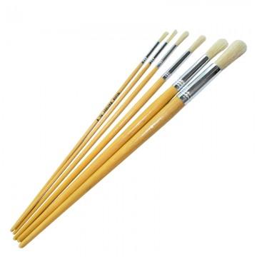 ALFAX Z5846 Round Art Brush Set 6 No.6,8,10,14,18