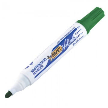 BIC W/B Marker Bullet Green