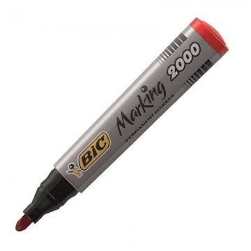 BIC 2000 Permanent Marker Bullet Tip Red