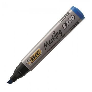 BIC 2300 Permanent Marker Chisel Tip Blue