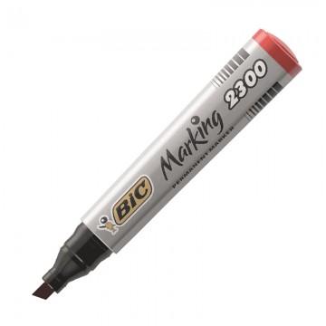 BIC 2300 Permanent Marker Chisel Tip Red