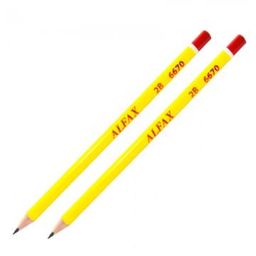 ALFAX 6670 Red Wood Pencil 2B Triangle