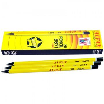 ALFAX 6671 Black Wood Pencil 2B Triangle