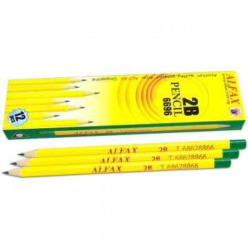 ALFAX 6696 Wooden Pencil 2B Triangle