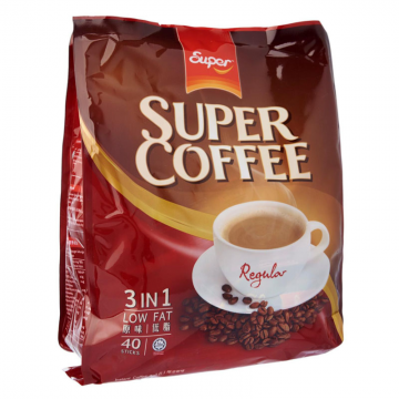 SUPER Coffee 3 in 1 Regular Low Fat 20gx40's (Red)