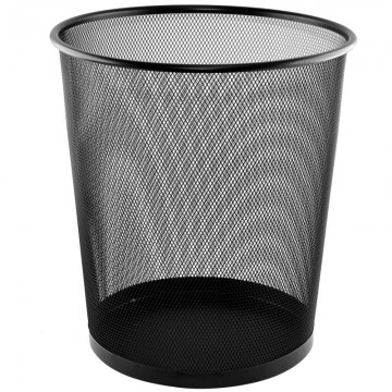 ALFAX Round Mesh Dustbin LD01508 Black D270xH290mm *