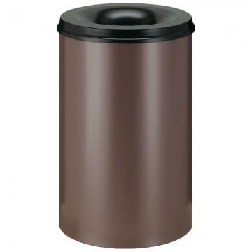 VEPABINS VB111000 Self-Extinguishing Wastepaper Bin 110L Bro