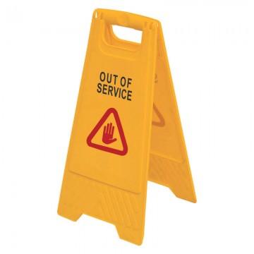 """Floor Sign """"OUT OF SERVICE"""" AF03041 Orange"""