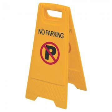 """Floor Sign """"NO PARKING"""" AF03057 Orange 315x640mm"""