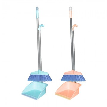 Broom & Dustpan Set (Stainless Steel Handle) 303