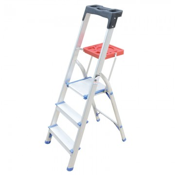 ALFAX 3 Step Aluminium Ladderwith Tray LL3A