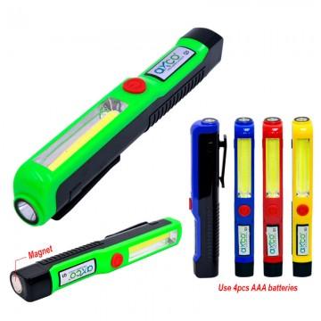 AXCO BLQ3 1+1 Mini Pen COB LED Torch Light