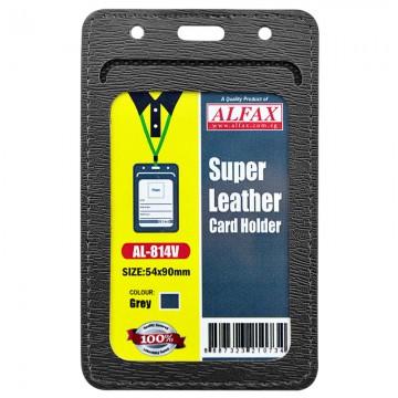 ALFAX AL814V Leather Card Holder 54x90mm 5's Grey