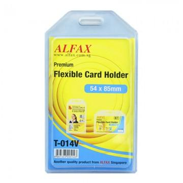 ALFAX T014V Flexible Card Holder 54x85x2mm 5's
