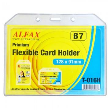 ALFAX T016H Flexible Card Holder 128x91x2mm 5's