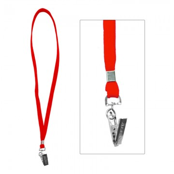 ALFAX 112 Lanyard with Metal Clip 10's Red