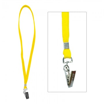ALFAX 112 Lanyard with Metal Clip 10's Yellow