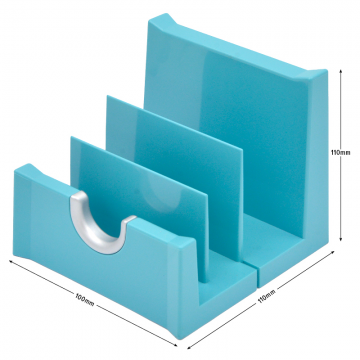 MULTIFORM 785338D Letter Rack 108x111x102mm Turquoise/Silver