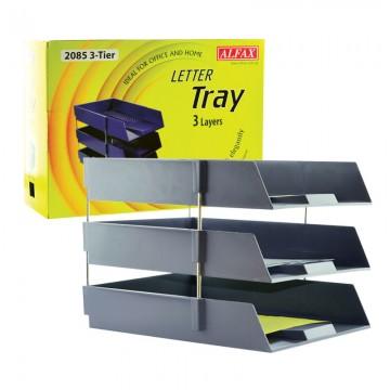 ALFAX 2085 Letter Tray 3Tier Grey