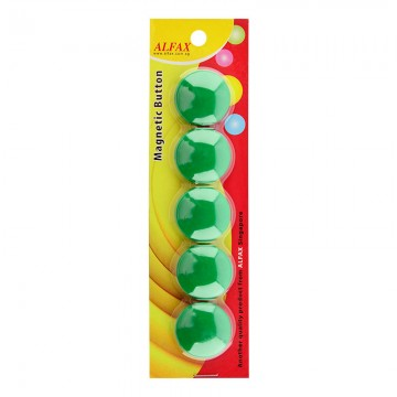 ALFAX MB30 Magnetic Button 30mm 5's Green