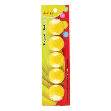 ALFAX MB30 Magnetic Button 30mm 5's Yellow