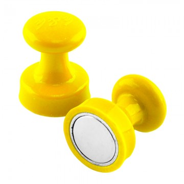 ALFAX MB3225 Super Strong Magnetic Button 25mm 8's Yellow