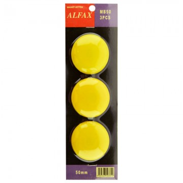 ALFAX MB50 Magnetic Button 50mm 3's Yellow