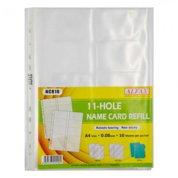 ALFAX NCR10 Name Card Holder Refill 11 Hole A4 10's