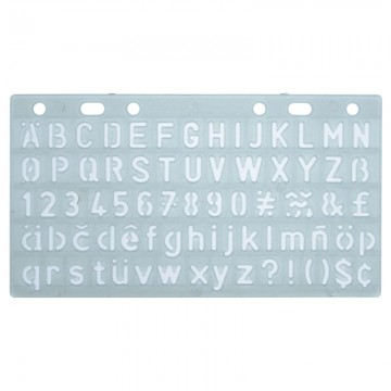 ALFAX 40013 Number Template 10mm