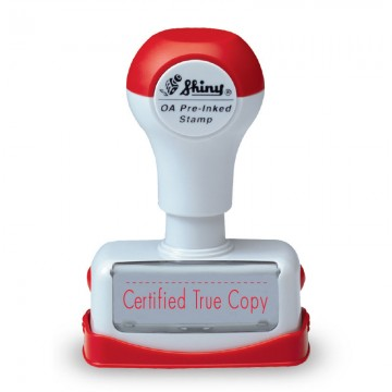 """SHINY NC27 OA Pre-Inked """"CERTIFIED TRUE COPY"""" Red"""