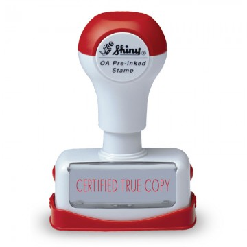 """SHINY NC28 Pre-Inked Stamp """"CERTIFIED TRUE COPY"""" Red"""