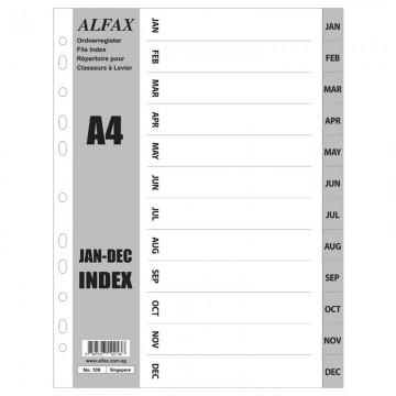 ALFAX 109 PP Grey Divider Jan-Dec A4